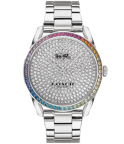 COACH Preston Rainbow Crystal Bracelet Watch