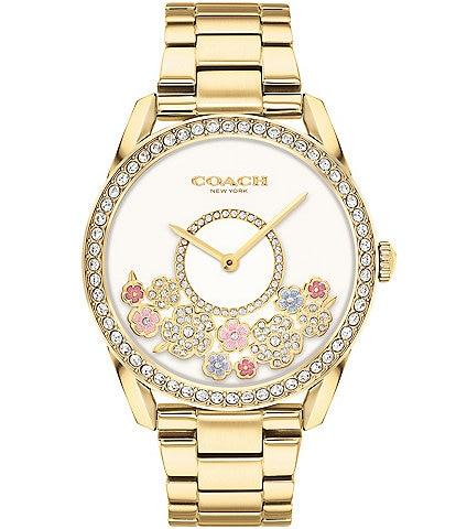 COACH Preston Tea Rose Gold Tone Bracelet Watch