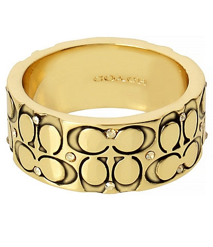COACH Quilted C Band Ring
