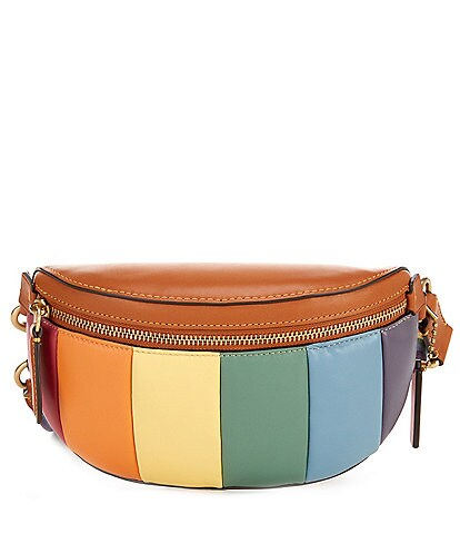 COACH Rainbow Leather Quilted Bethany Belt Bag