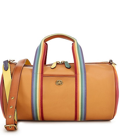 COACH Rainbow Quilted Leather Duffel Bag