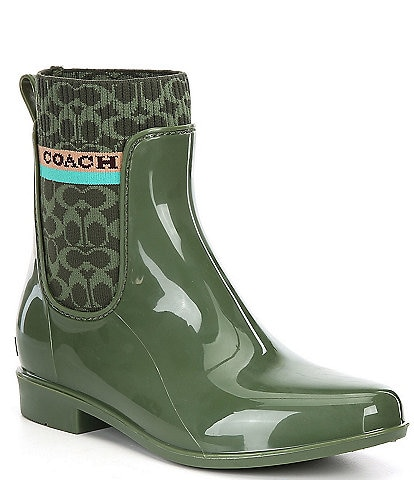 COACH Rivington Logo Rain Booties