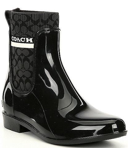 COACH Rivington Logo Rain Booties