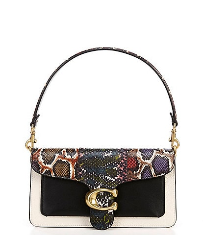 COACH Tabby Snakeskin Colorblock Shoulder Bag