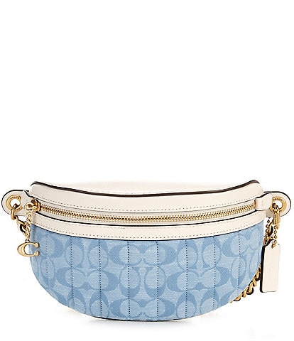 COACH Signature Chambray Quilted Belt Bag