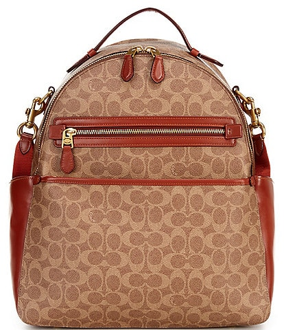 COACH Signature Coated Canvas Baby Backpack