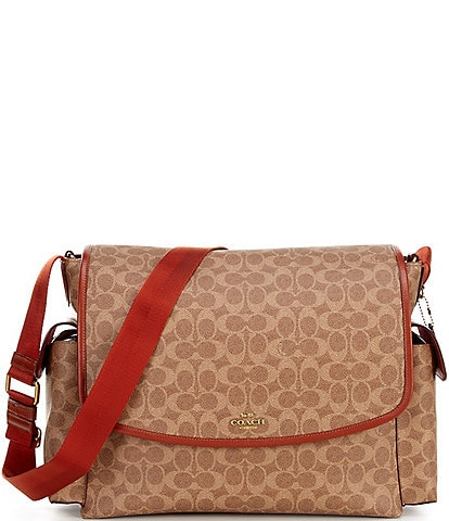 COACH Signature Coated Canvas Baby Messenger Bag