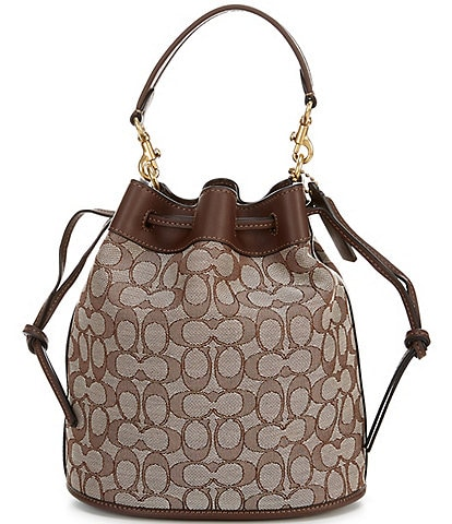 COACH Signature Jacquard Field Bucket Bag