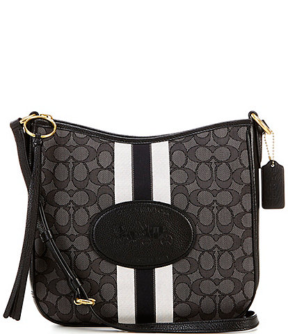 COACH Signature Jacquard Horse and Carriage Chaise Crossbody Bag