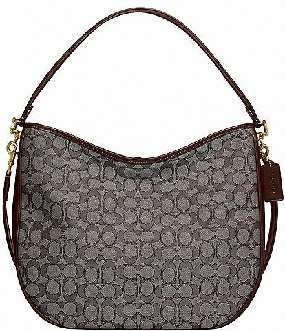 COACH Signature Jacquard Soft Tabby Hobo Shoulder Bag