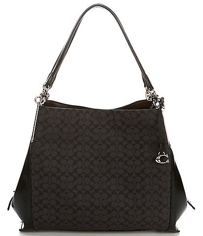 COACH Signature Leather Jacquard Dalton 31 Shoulder Bag