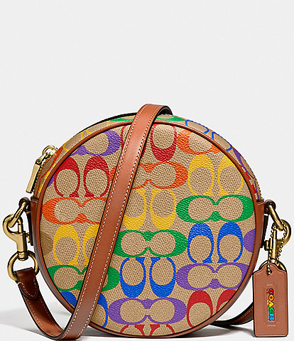 COACH Signature Rainbow Circle Crossbody Bag
