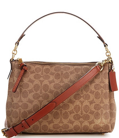 COACH Coated Canvas Signature Shay Crossbody Bag