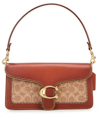 COACH Signature Tabby Beaded Chain Shoulder Bag