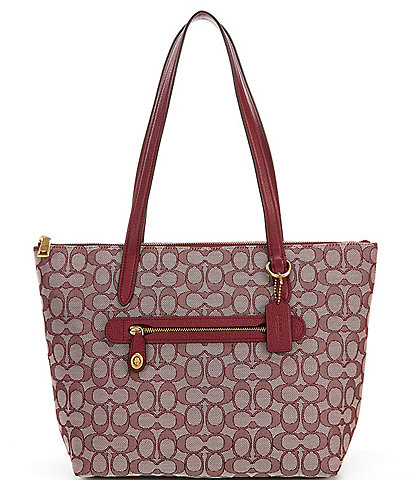 COACH Signature Taylor Pebble Leather Tote Bag