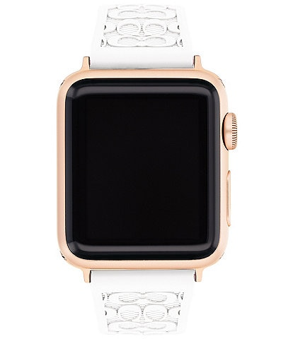 COACH Signature White 38/40mm Bands for Apple Watch®