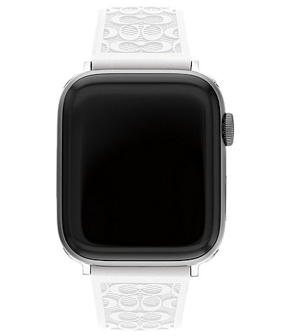 COACH Signature White 42/44mm Band for Apple Watch®