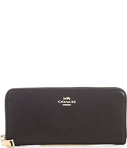 COACH Slim Accordion Zip Leather Wallet