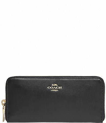 COACH Slim Accordion Zip Leather Wallet