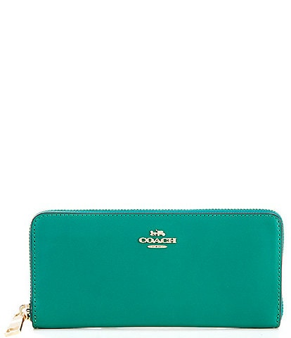 COACH Slim Leather Accordion Zip Wallet