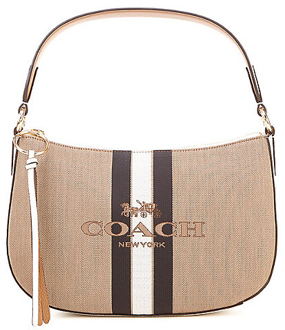 COACH Sutton Horse and Carriage Striped Crossbody Bag