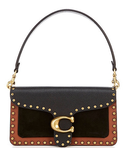 COACH Tabby Colorblock Studded Leather Crossbody Bag