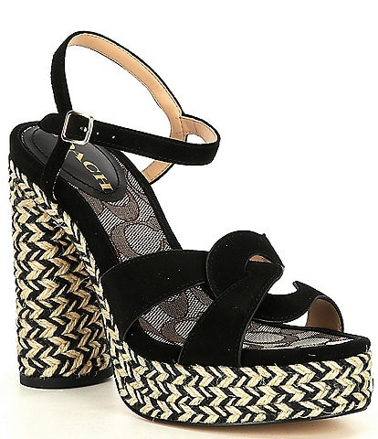 COACH Talina Suede Dress Sandals