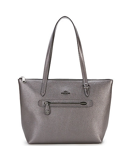 COACH Taylor Metallic Leather Tote Bag