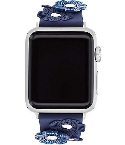 COACH Navy Tea Rose 38/40mm Band for Apple Watch®