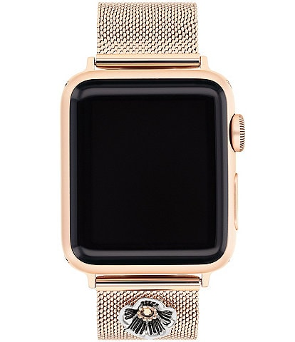 COACH Tea Rose Mesh 38/40mm Bands for Apple Watch®