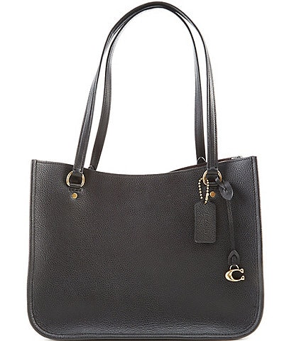 COACH Tyler Pebble Leather Carryall Tote Bag