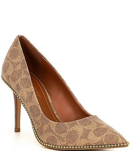 COACH Waverly Bead Chain Logo Pumps