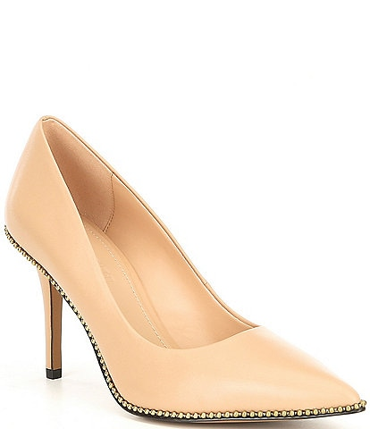 COACH Waverly Beadchain Leather Pumps