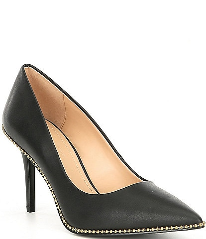 e5d2a29577 COACH Waverly Beadchain Leather Pumps