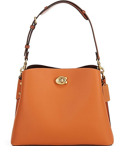 COACH Willow Colorblock Leather Shoulder Bag