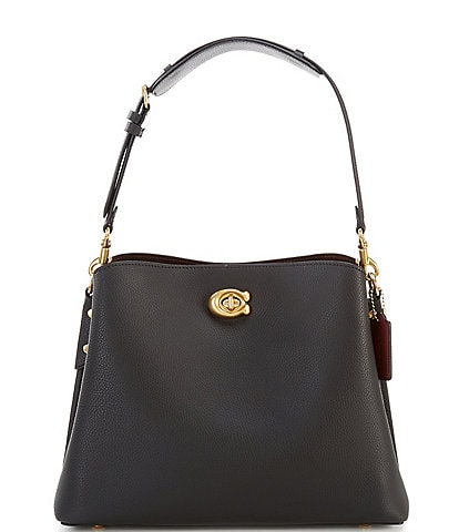COACH Willow Pebble Leather Shoulder Bag