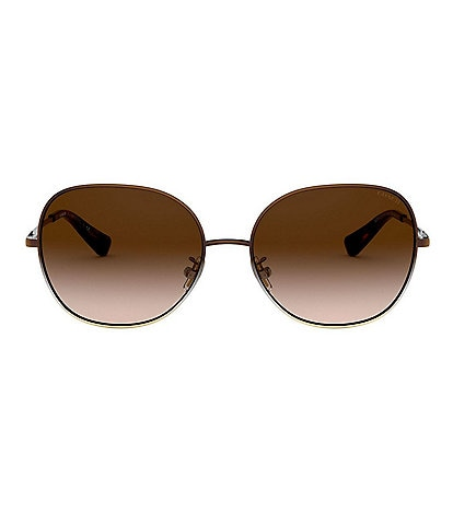 COACH Wire Frame Round 57mm Sunglasses