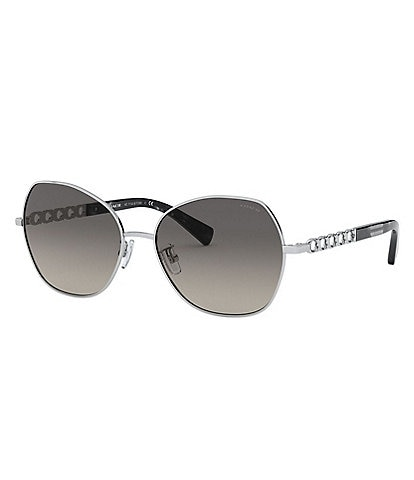 COACH Women's Hc7112 56mm Sunglasses