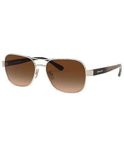 COACH Women's Pilot 57mm Sunglasses
