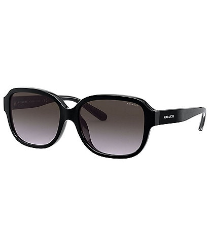 COACH Women's Rectangular 57mm Sunglasses