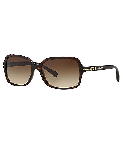 COACH Rectangular Gradient Lens Sunglasses