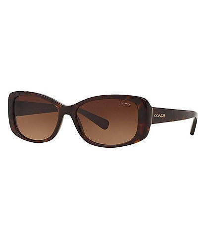 COACH Rectangular Tortoise Sunglasses