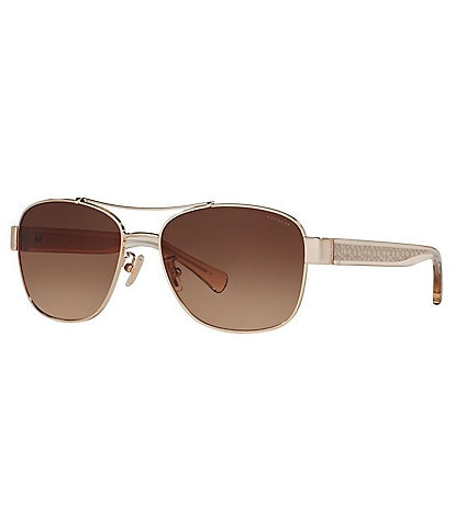 COACH Women's Signature Aviator Sunglasses