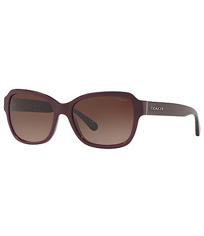 COACH Women's Signature Rectangle Sunglasses