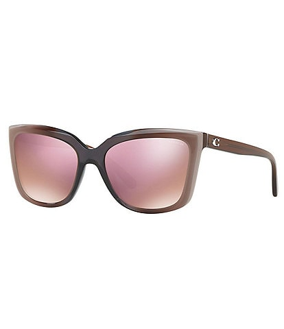 COACH Mirrored Lens Square Sunglasses