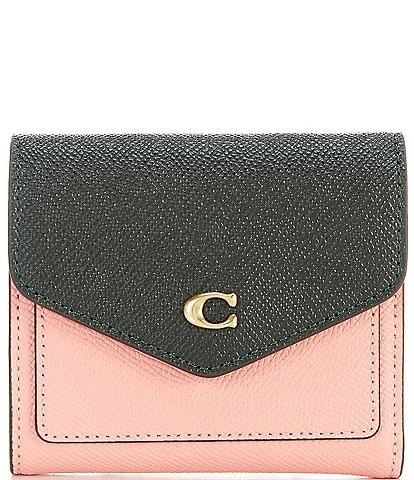COACH Wyn Colorblock Leather Small Tri-Fold Wallet