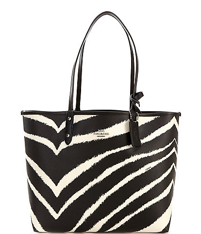 COACH Zebra Reversible City Tote Bag