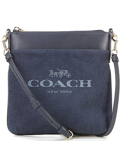 COACH Signature Kitt Messenger Crossbody Bag