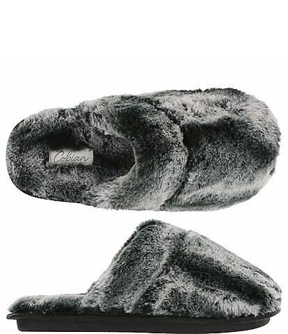 Cobian Minouu Fuzzy Faux Fur Mule Slipper