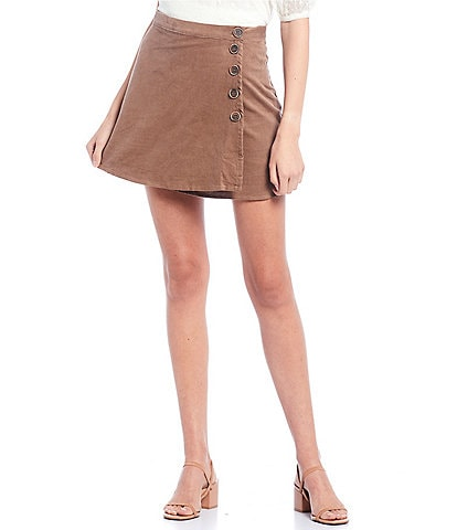 Coco + Jaimeson Baby Corduroy Side-Button Skirt